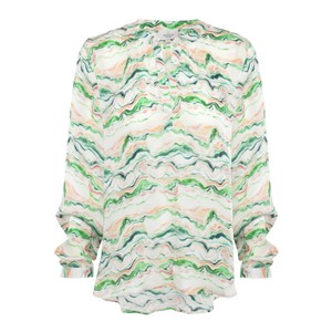 Sandy Open Wave Shirt Green/Multi