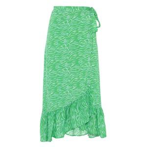 Simi Wrap Tiger Print Skirt Green/White