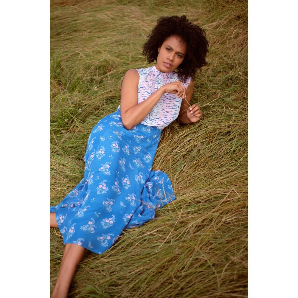 Primrose Park Mia Jardin Tigar Floral Dress Blue/Pink