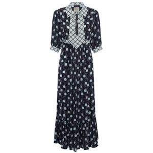 Loopy Lou Tulip Dress Black/Blue