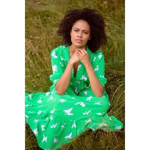 Primrose Park Loopy Lou Pixie Floral Dress Green