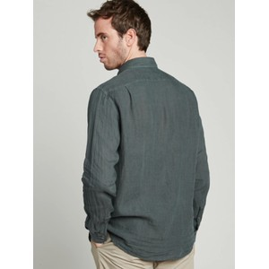 Hartford Paul Pat L/S 1 Pkt Shirt Graphite