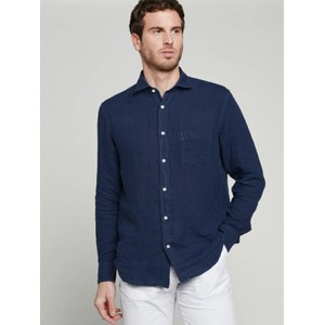 Paul Pat L/S 1 Pkt Shirt Deep Blue