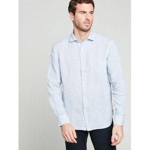 Penn Grid Pattern L/S Shirt Light Blue