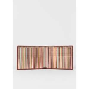 Paul Smith Accessories Signature Int Stripe Wallet Tan