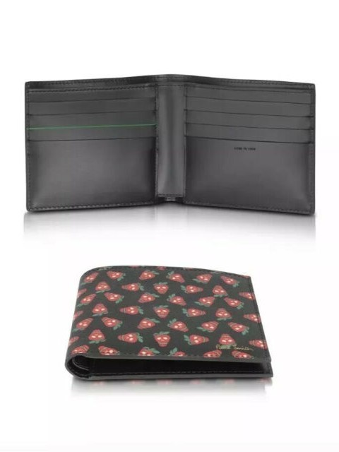 Paul Smith Accessories Strawberry Skl B/Fold Black/Red