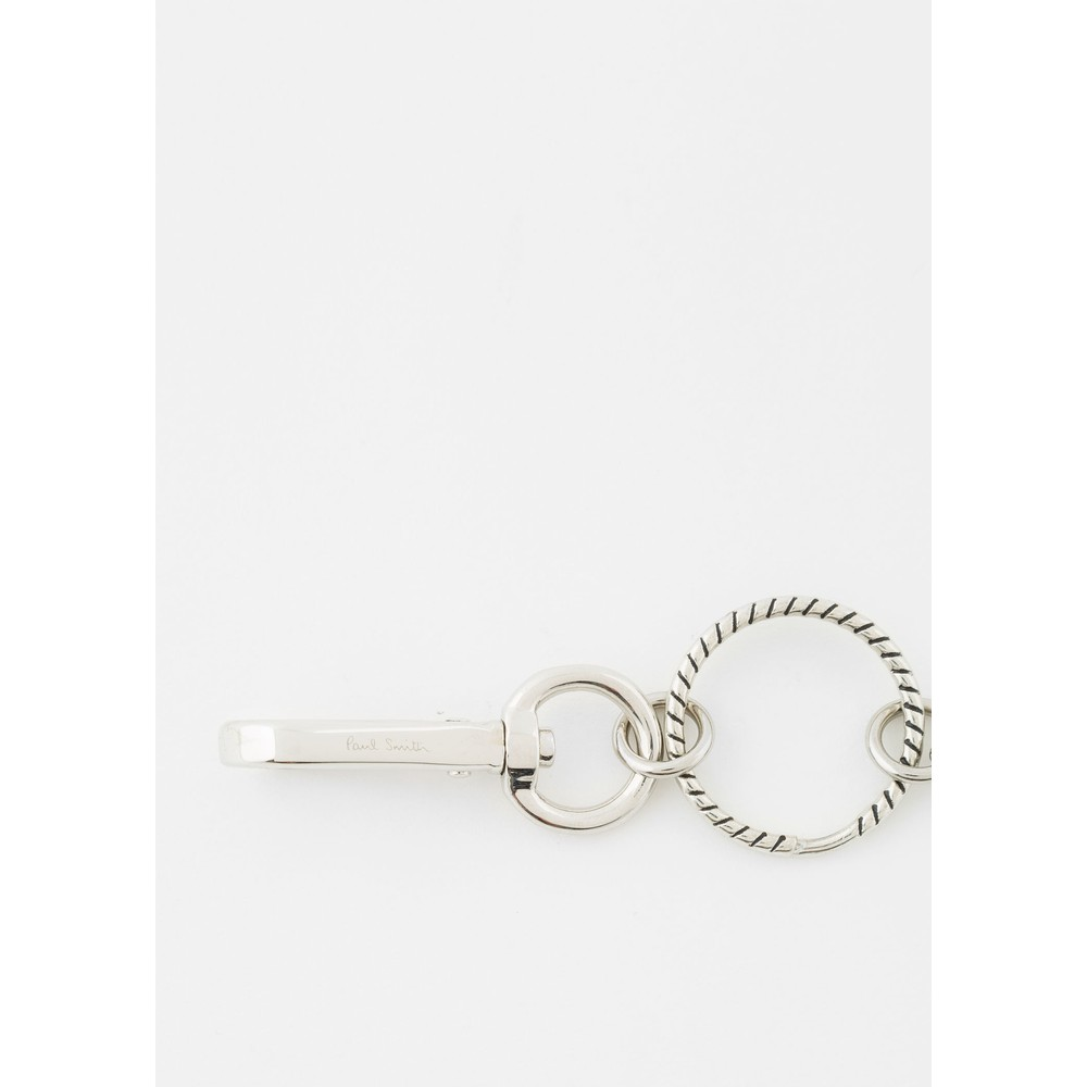 Paul Smith Accessories Zebra Swing Keyring Silver