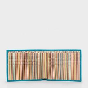 Paul Smith Accessories Stripe Interior Wallet Sky Blue