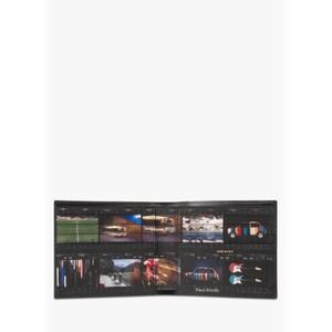 Mini Film Printed Wallet Black