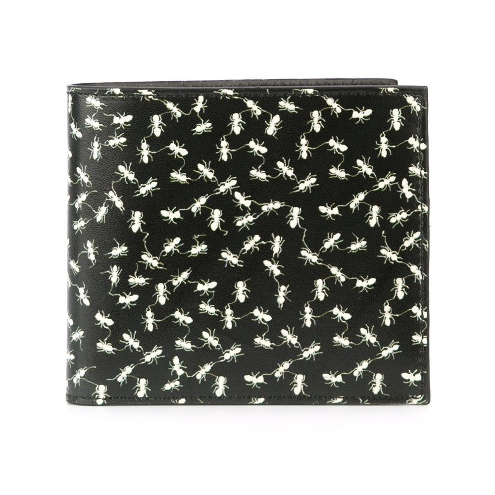 Paul Smith Accessories Ants Billfold Wallet Black/Off White