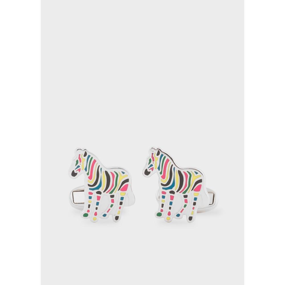 Paul Smith Accessories Zebra Cufflinks Silver/Multi