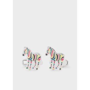 Zebra Cufflinks Silver/Multi