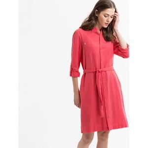 Brax Gillian Linen Shirt Dress Coral PInk