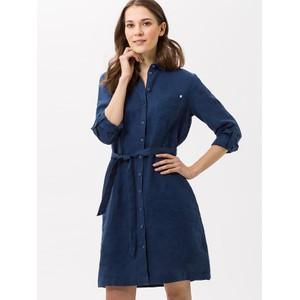 Brax Gillian Linen Shirt Dress in Navy