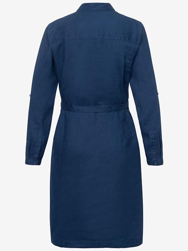 Brax Gillian Linen Shirt Dress Navy