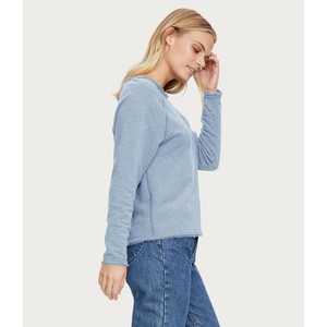 Michael Stars Sheena BoatNk Raw Edge Sweater Coastal