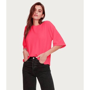 Michael Stars Leona Column Slv Boxy Tee Wildberry
