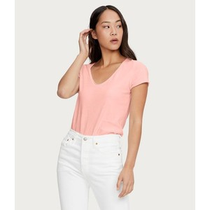 Jade V Neck T Shirt Melon