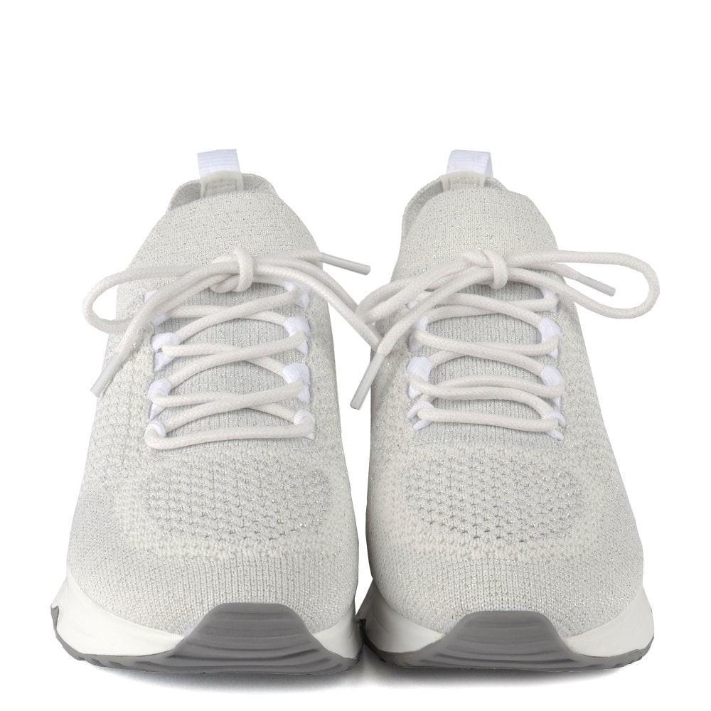 Ash Lunatic Bis Knit Trainer White/Off White