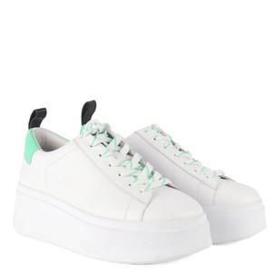 Moon Flatform Trainer White/Black/Deep Green