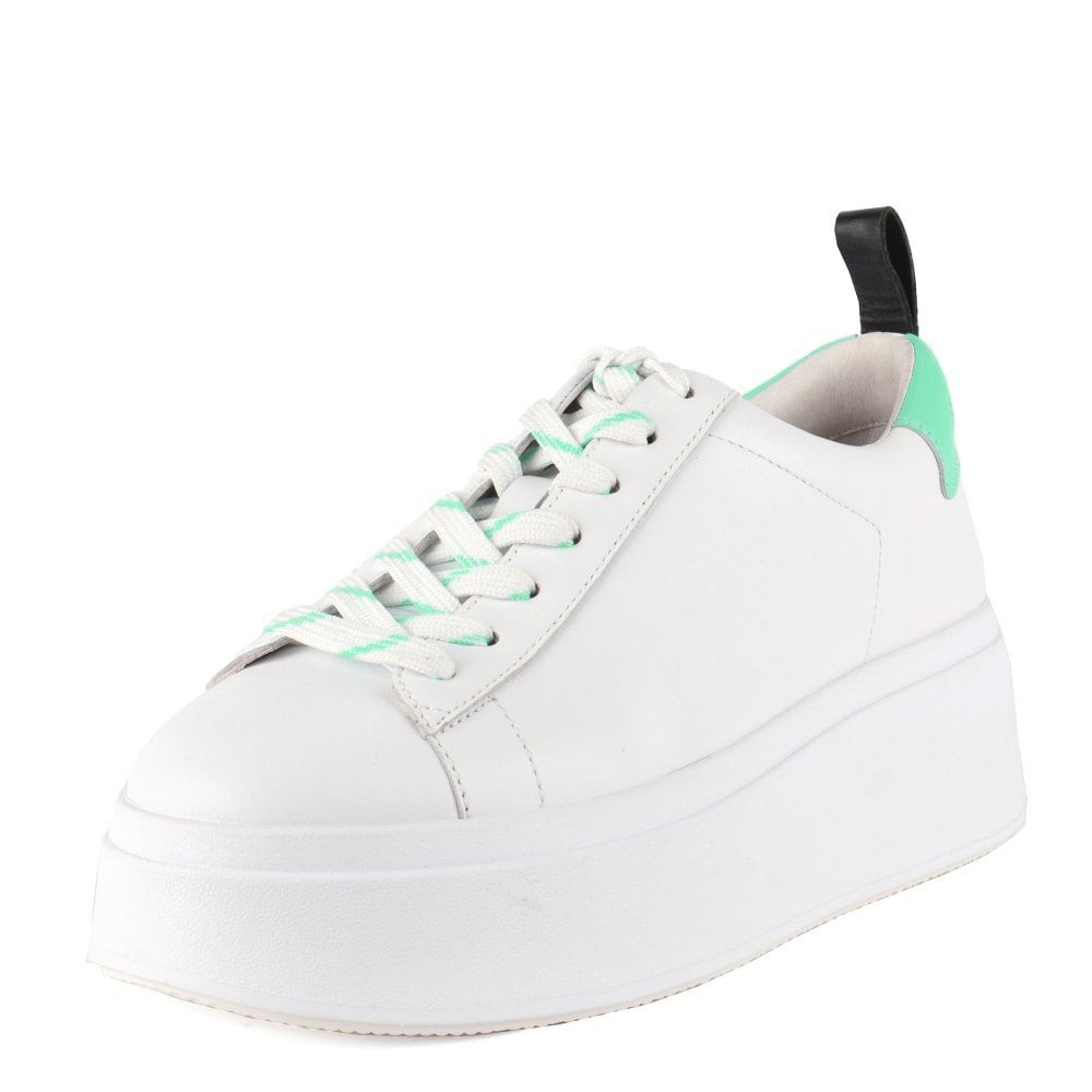 Ash Moon Flatform Trainer White/Black/Deep Green