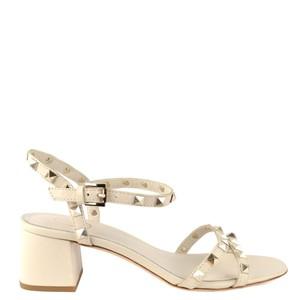 Iggy Stud Heel Sandal Ivory
