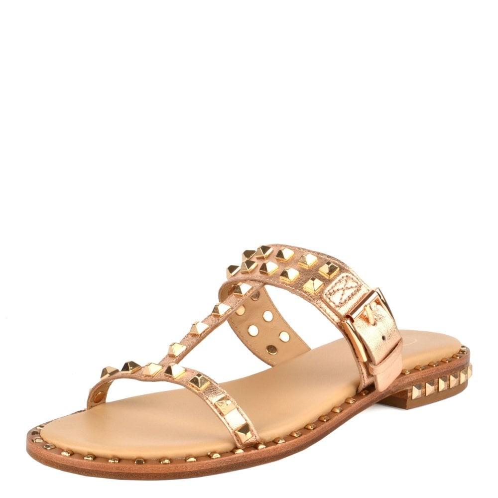 Ash Prince Stud Buckle Sandal Gold/Rose Gold