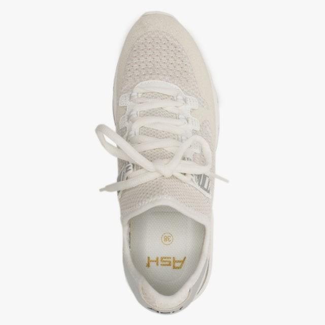 Ash Krush Glitter/Knit Trainer White/Silver
