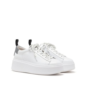Moon-Nappa Calf/Mesh White/Silver/Black