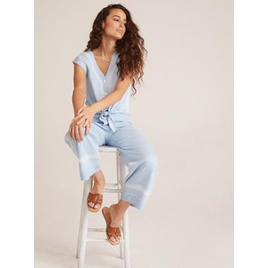 Bella Dahl Pkt Front Wide Leg Crop Trousers Pale Blue