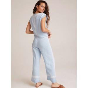 Bella Dahl Pkt Front Wide Leg Crop Trousers Pale Blue