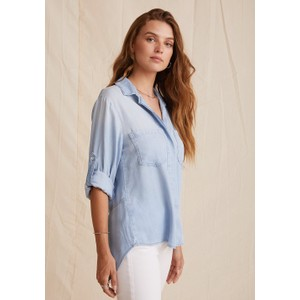Bella Dahl Split Bk Button Down Shirt Sunbeach Wash