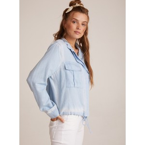 Bella Dahl Drawstring Military Jacket Pale Blue