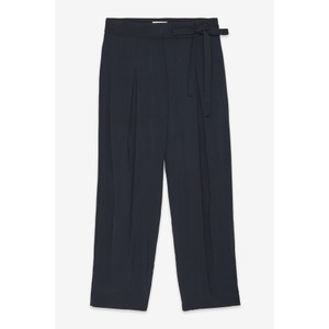 Ottod'Ame Pleat Front Tie Side Trouser Navy