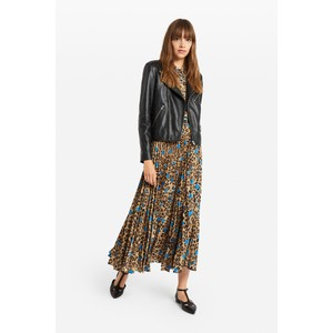 Ottod'Ame Leopard Print Skirt With Spot Leopard