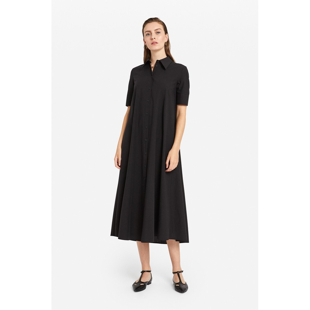 Ottod'Ame S/S Long Poplin Dress Navy