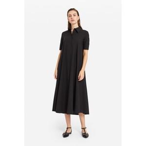 S/S Long Poplin Dress Navy