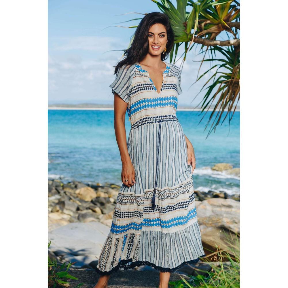 Ruby Yaya Santa Fe Maxi Dress Ocean/Multi