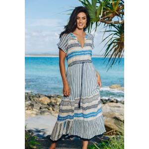 Santa Fe Maxi Dress Ocean/Multi