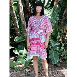 Batik Dress Pink/Light Blue