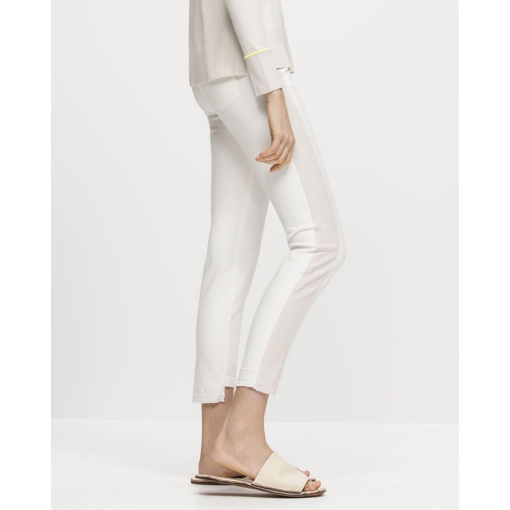Luisa Cerano Two Tone Skinny Jeans Off White/Stone