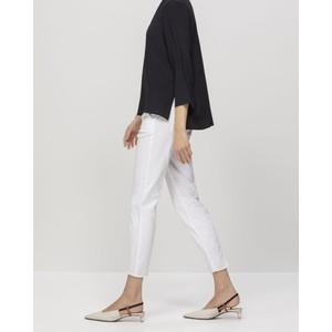 Luisa Cerano Skinny Trs with Elastic Waist White