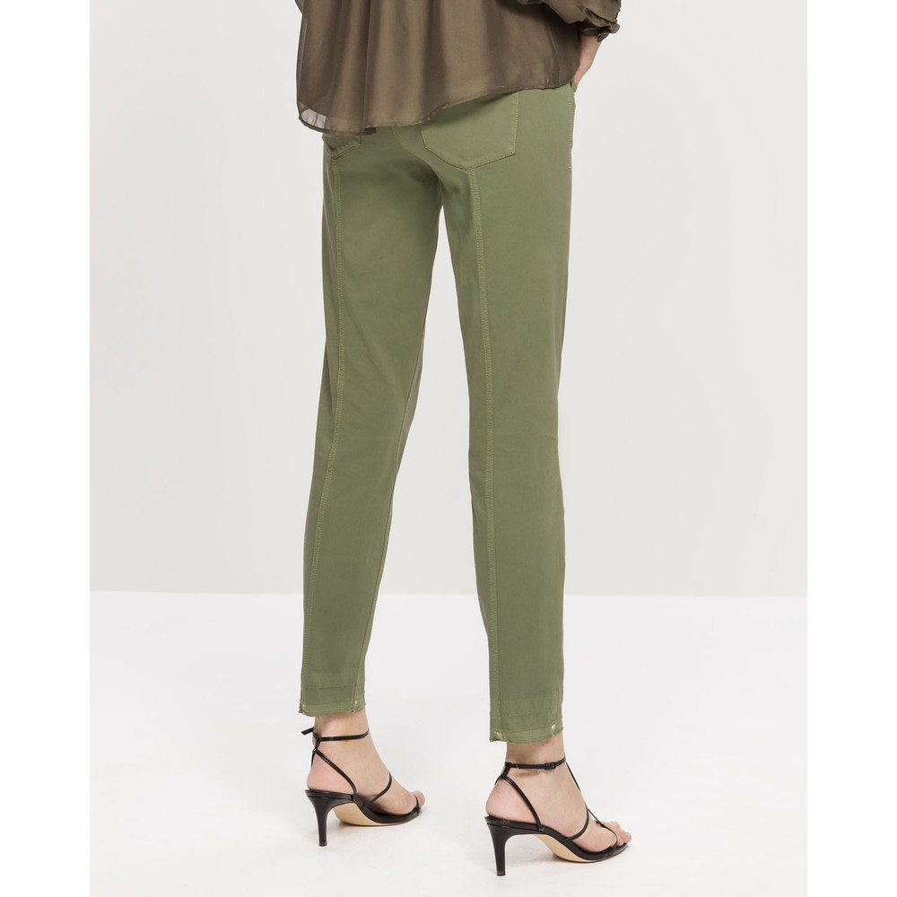 Luisa Cerano High Stretch Skinny Trouser Light Olive