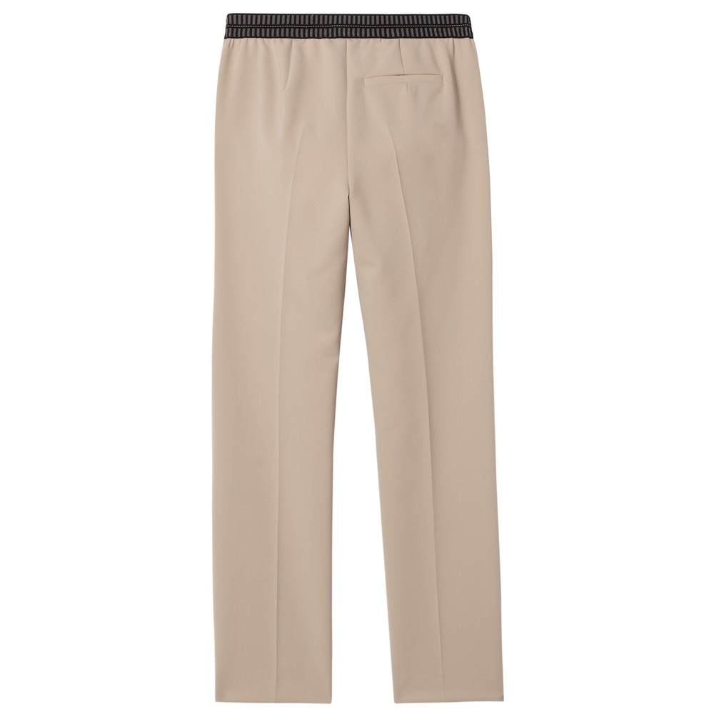 Luisa Cerano Stretch Waist Straight Trouser Soft Beige