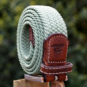 Billybelt The Braided Belt in Almond Green