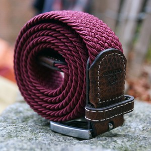 Billybelt The Braided Belt in Burgundy