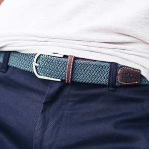 Billybelt The Braided Belt in NavyGrey