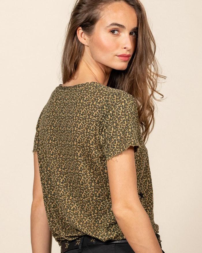 Five Leopard/Star T-Shirt Leopard