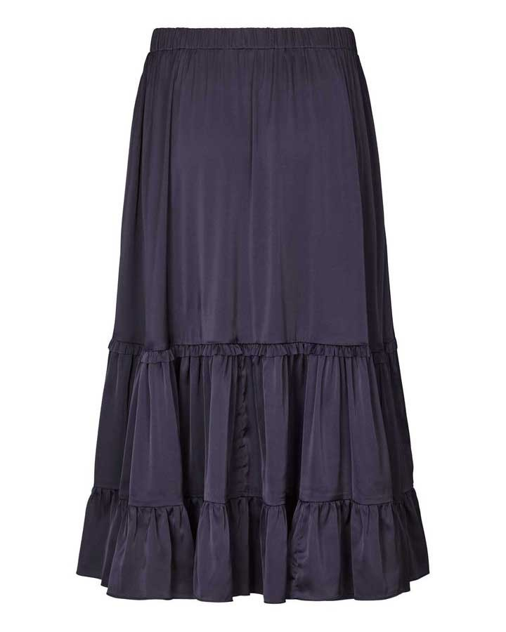 Lollys Laundry Sana Ruffled Skirt Dark Navy