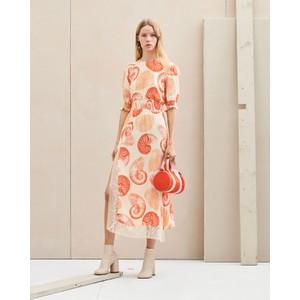 Baum Und Pferdgarten Aleela S/S Lace Trim Print Drs Cream Shell Wallpaper